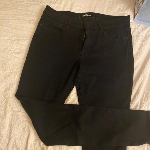 Express skinny leg stretch jeans 10 long